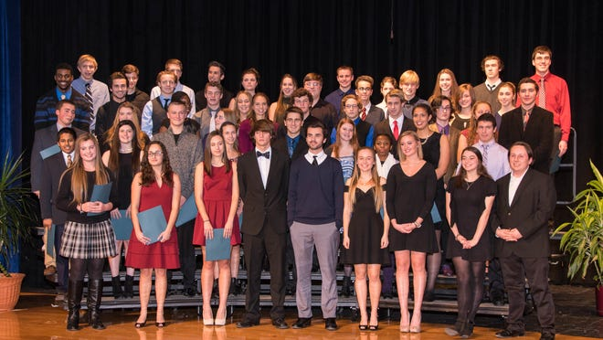 The newest inductees of the National Honor Society at Brockport High School. provided photo
