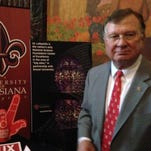 UL Lafayette E. Joseph Savoie attend the UL System Day events Thursday at the Capitol.