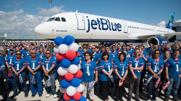 JetBlue received the first Airbus aircraft -- an A321