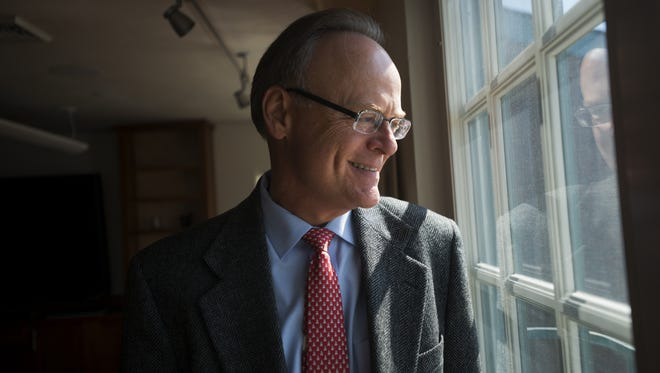 Champlain College President David Finney in 2013 after announced he would retire from the college.