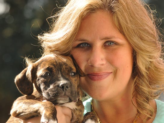 Susan Naylor, public relations coordinator, snuggles