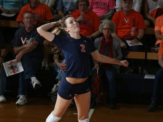 Virginia outside hitter and former Maclay star Haley