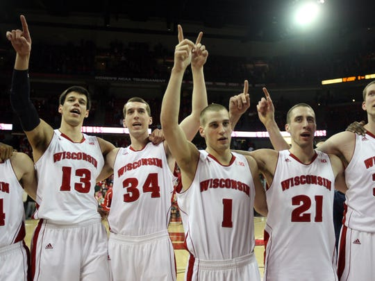 Zach Bohannon (34) was a role player during his college career at Air Force and Wisconsin. He was a captain on the Badgers' 2014 Final Four team.