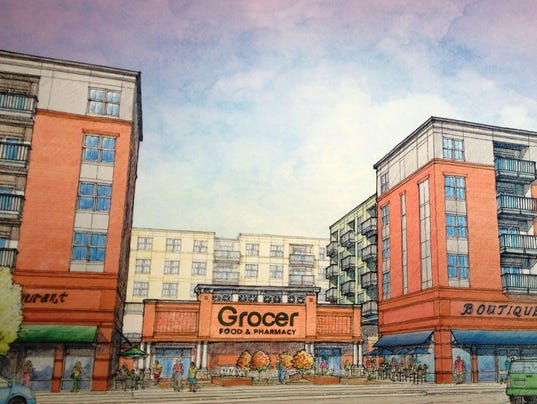 Gaines rendering with grocer