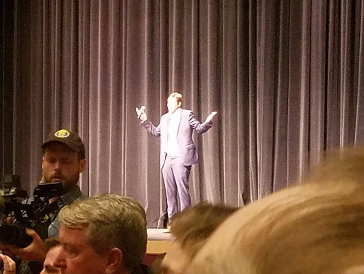 Richard Spencer speaking at the Phillips Center at