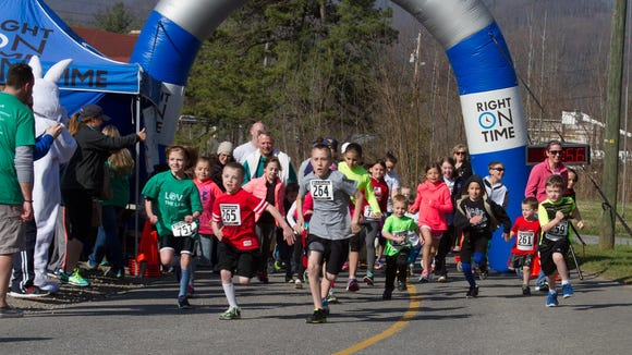 More than 270 runners and walkers took part in the Friends of the Lake 5K March 26 at Lake Junaluska.