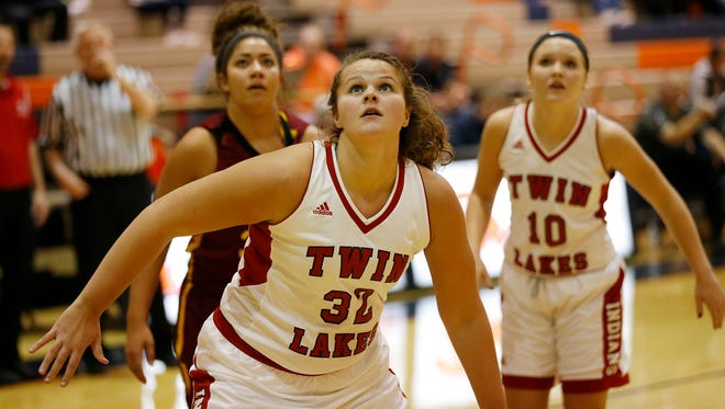 Taylor Burns was the area's leading rebounder, averaging 13.2 per game.