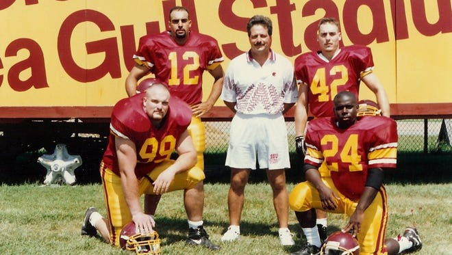 Dan Quinn (99) was was inducted into the Salisbury University Athletics Hall of Fame in 2005.