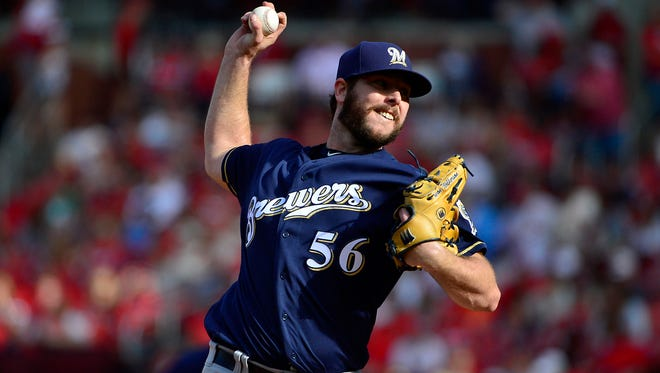 Aaron Wilkerson spent most of 2017 at Class AA Biloxi before joining the Brewers in September. He made five appearances this spring before being sent to the minor-league camp.