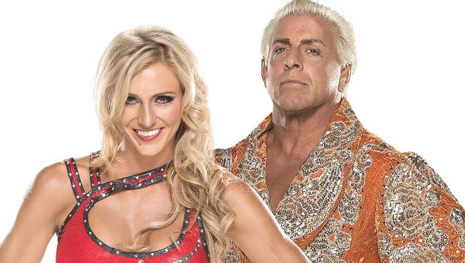 Charlotte (left) and Ric Flair will appear at iPlay America in Freehold on Friday, Dec. 18.