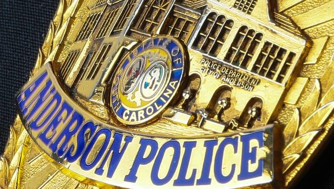 Anderson, South Carolina police badge, stock art.