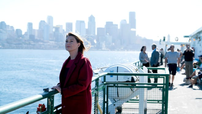 Meredith Grey catches a ride on her one of her late husband's beloved ferry boats in the 300th episode of 'Grey's Anatomy.'