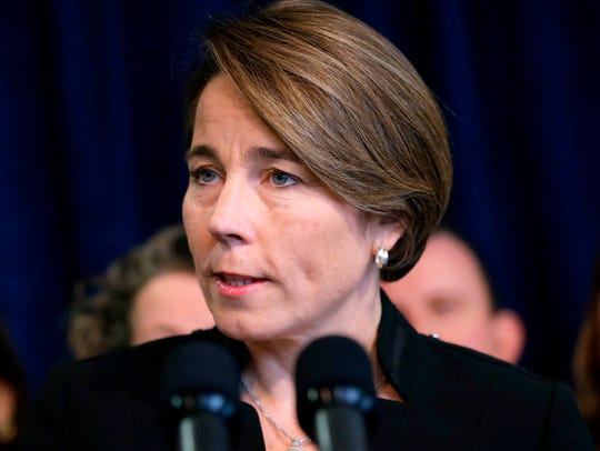 Massachusetts Attorney General Maura Healey takes questions