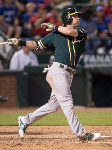 Athletics right fielder Josh Reddick missed the first
