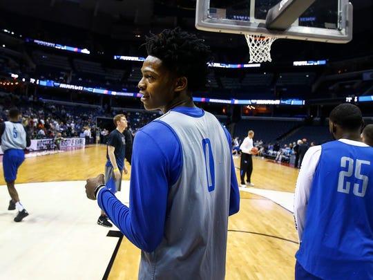 Kentucky's De'Aaron Fox has a good chance to be selected