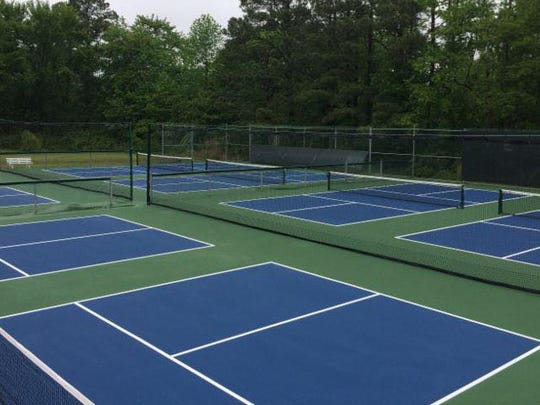 The eight new pickleball courts cost an estimated $35,000 to create.
