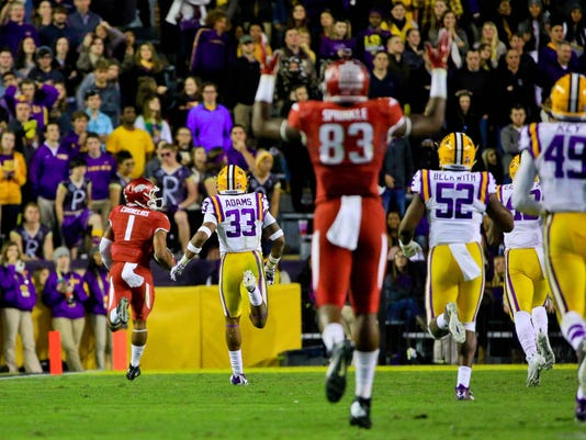 NCAA Football: Arkansas at Louisiana State