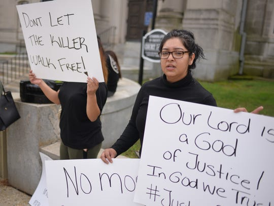 Mariela Garcia, a relative of murder victim Kevin Carrillo,