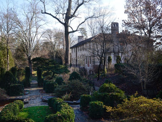 The garden of the Craiglen house is pictured Thursday, Dec. 29, 2016. The Charles Barber-designed home, which is reminiscent of a 15th century Tuscan villa, is for sale.