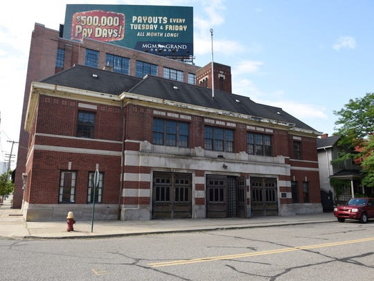 The former fire station at 1201 Bagley Street in Detroit's Corktown neighborhood.