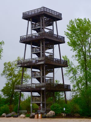 An 80-foot observation tower provides sweeping views of Broughton Marsh in Sheboygan County.