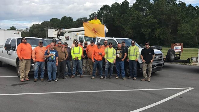 A group of New Mexico electricians heads to Florida to help the 7 million people without electricity in the wake of Hurricane Irma.
