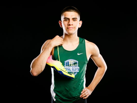McKay track athlete Israel Garza for the Statesman Journal Sports Awards on Wednesday, May 17, 2017.