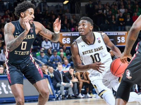 NCAA Basketball: Florida State at Notre Dame