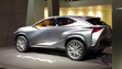 The Lexus LF-NX SUV concept on display at the Franfurt Auto Show.