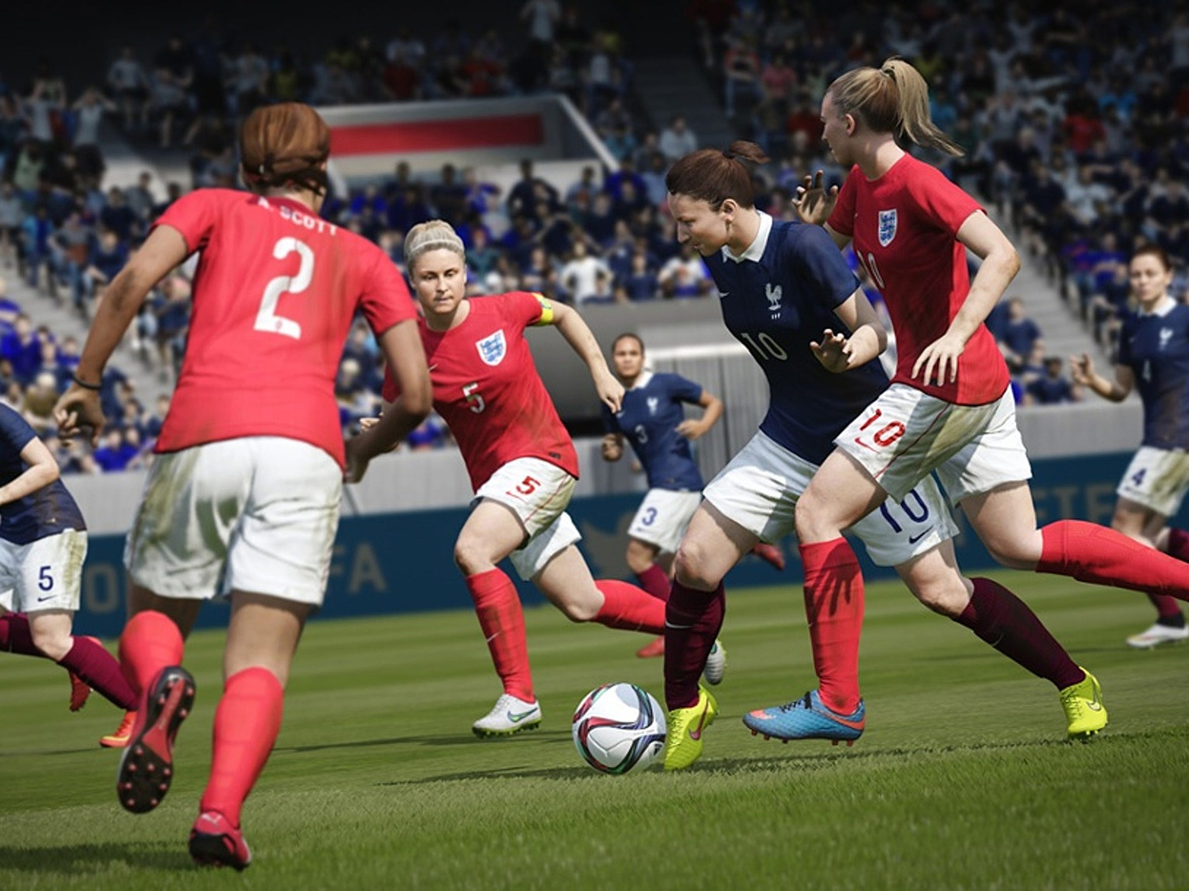 FIFA 16 adds 12 international women's teams to the mix, with gameplay having its own unique feel compared to the men's teams.