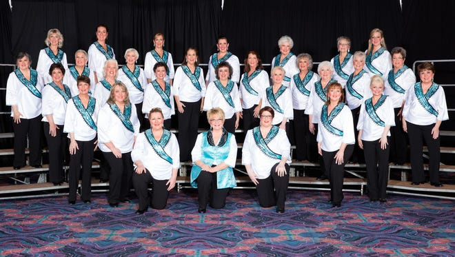 The Oregon Spirit Chorus won first place in its division at the Pacific Shores Region 12 Competition last weekend in Sparks, Nevada.