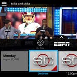 Sling TV promotional offer on an Amazon Kindle Fire HD tablet.