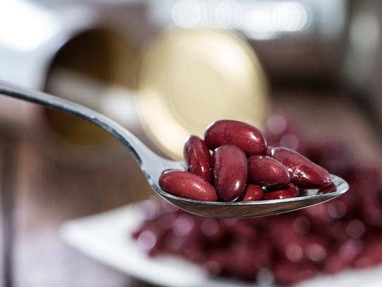 Canned beans are a good protein substitute.