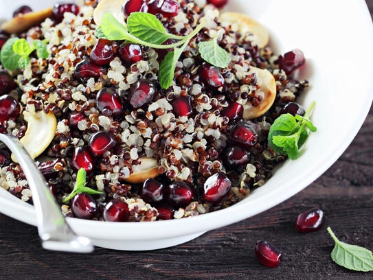 Often substituted for wheat, quinoa is an option for