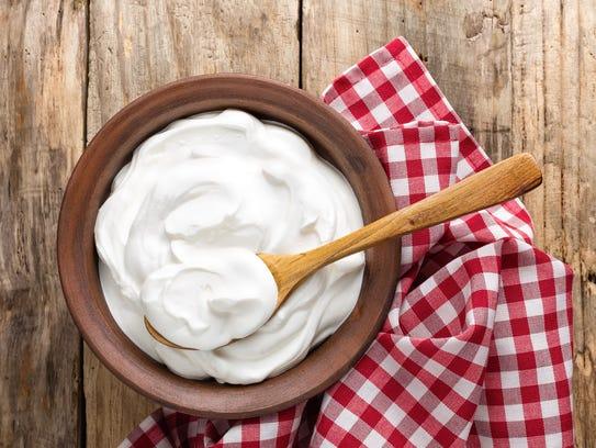 Yogurt contains probiotics.