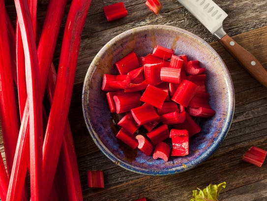 Rhubarb is most commonly paired with strawberries,