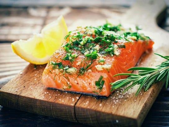 Salmon is a healthy choice.