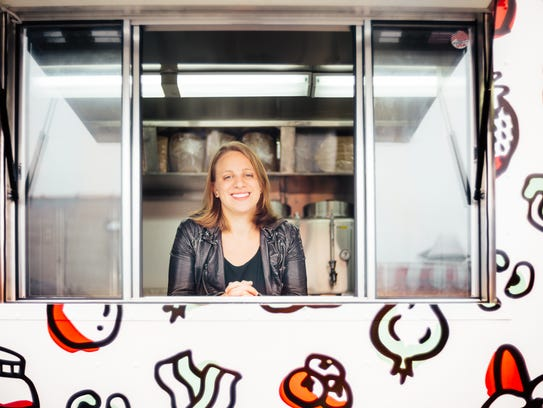 Rebecca Mitchel, owner of Stuf'd Truck in New York
