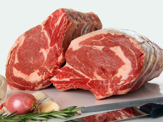 Beef cuts should have sufficient fat, called marbling,