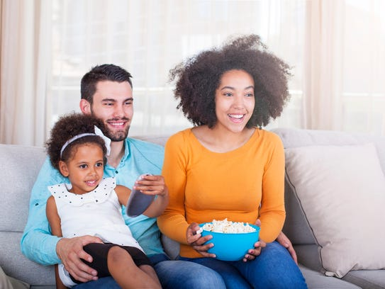 Watching movies is a great family activity during the