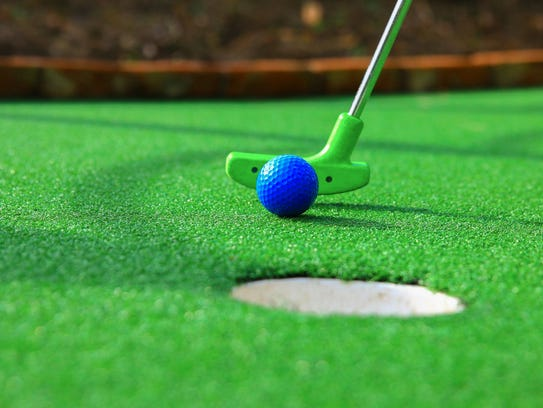 Mini golf is fun for everyone.