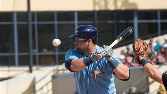 Tampa Bay Rays designated hitter Kyle Roller doesn't