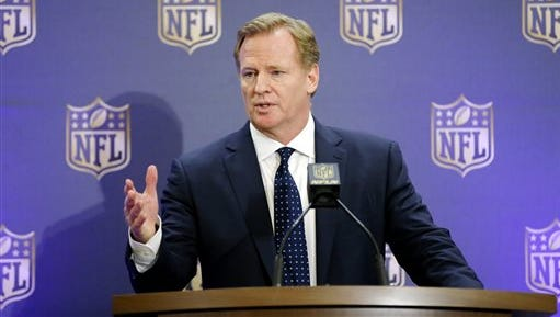NFL Commissioner Roger Goodell speaks during a news conference Dec. 2 in Irving, Texas. A federal appeals court has upheld an estimated $1 billion plan by the NFL to settle thousands of concussion lawsuits filed by former players, potentially ending a troubled chapter in league history.