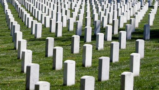File photo of Arlington National Cemetery in Arlington, Virginia just outside of Washington, D.C.