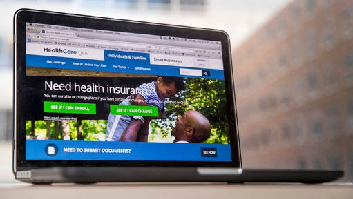 FILE - In this Feb. 9, 2017, file photo, the HealthCare.gov website, where people can buy health insurance, is displayed on a laptop screen in Washington. Something new is happening in a health care debate dominated for seven years by the twists and turns of Barack Obama's signature law. The focus has shifted to ideas from President Donald Trump and GOP lawmakers in Congress, and most people don't like what they see. With Republicans in command, their health care proposals as currently formulated have generated far more concern than enthusiasm.
