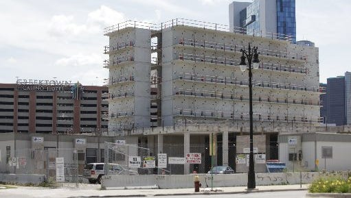 Wayne County Jail project in Detroit, Thursday, Aug. 15, 2013.