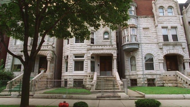 Homes line Martin Luther King, Jr., Boulevard on Thursday, Sept. 12, 1996, in the Bronzeville neighborhood in Chicago.