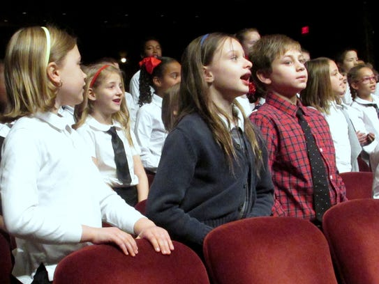 The Arctic League Kids Choir belts out a tune during