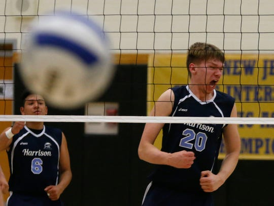 Harrison middle Michal Niczewski (20) led North Jersey with 102 blocks during the 2016 boys volleyball season.