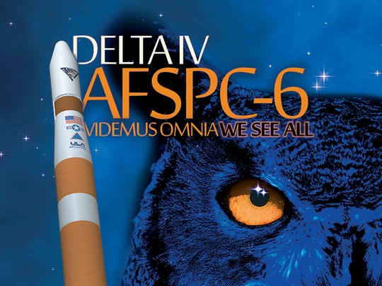 Official United Launch Alliance poster for the mission labeled AFSPC-6.